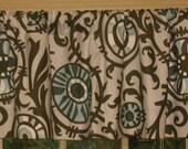 SALE Window Curtain-Valance Premier Prints Village Blue Suzani