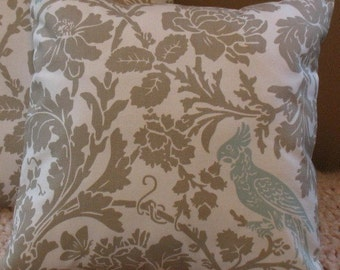 New SALE Two Designer Throw Pillow Covers18 x 18 Barber Taupe Robin
