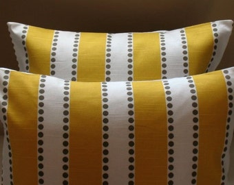 New THE Corn Yellow Texture Collection  Two Pillow Covers 20 x 20 LuLu  BOTH SIDES