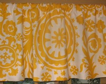 SALE  Sale  Window Curtain-Valance Premier Prints Corn Yellow Suzani