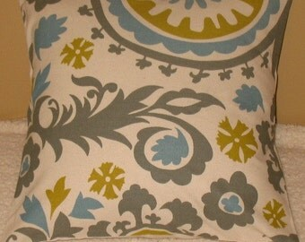 New SALE Two 18 x 18  Pillow Covers Premier Prints Summerland Suzani