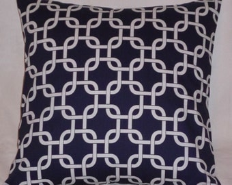 SALE NEW Release  Two 20 x 20  Premier Prints Twill Gotcha Navy both sides