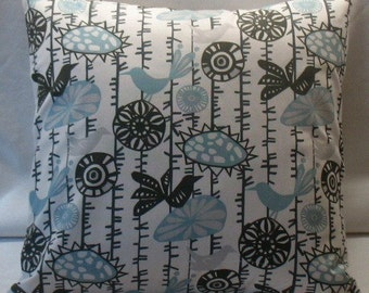 SALE New TWO 18 x 18 Pillow Covers  Menagerie Both Sides