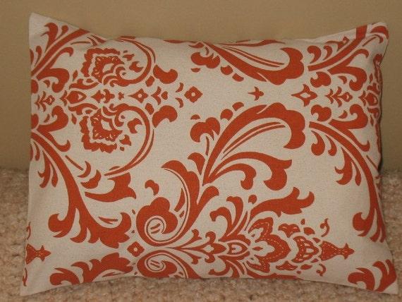 SALE Lumbar Pillow Cover 12 x 16 Sweet Potato Damask