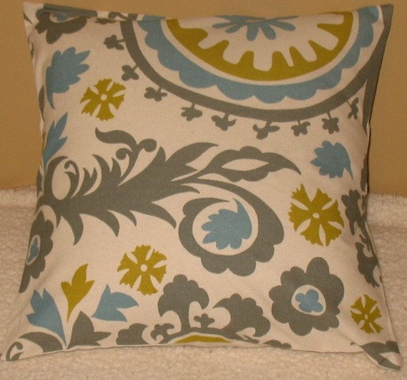 New SALE Two 16 x 16 Pillow Covers Premier Prints Summerland Suzani