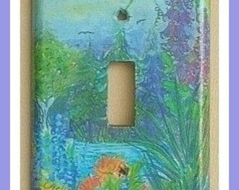 misty garden lightswitch cover
