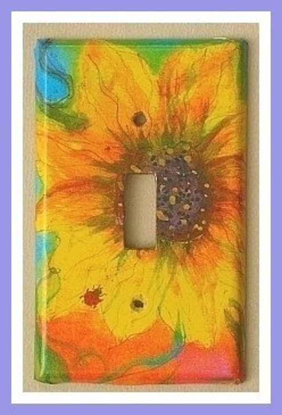 sunflower lightswitch cover