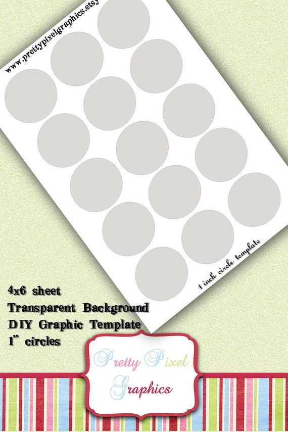 INSTANT DOWNLOAD-DIY Circle Graphics Template 1 inch Print Your Own Graphic Images-Bottlecaps-Alta Caps-Hairbows-Jewelry-Favors