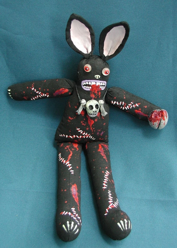 Zombie Rabbit Creepy Cute Mutant Doll Made To Order