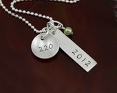 The Heather - Weight Loss Necklace -  Personalized Hand Stamped Sterling Silver Necklace