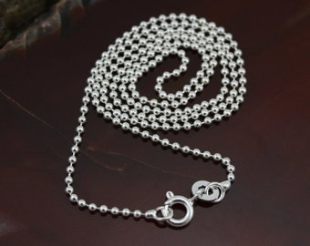 16 Inch Sterling Silver Ball Chain - 1.5mm