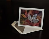 Frosted leaves - little blank notecard