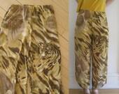 Chiffon Tiger Drape Pants