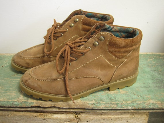 Sporto 70s Leather Flannel Lined Hiking Boots
