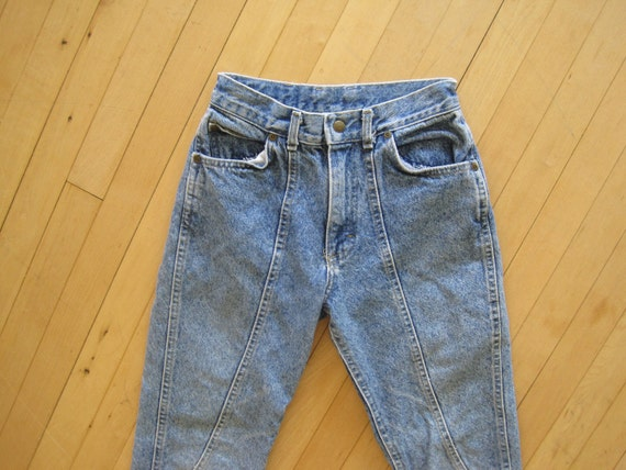 80s Acid Washed High Waisted Jeans