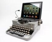 USB Typewriter Computer Keyboard -- Grey Royal Portable
