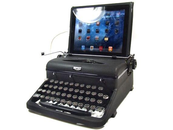 USB Typewriter Computer Keyboard -- Royal Aristocrat w. Black Trim c. 1940