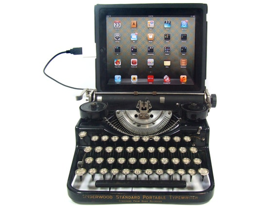 USB Typewriter Computer Keyboard Underwood Standard c1925 | 570 x 428 jpeg 39kB