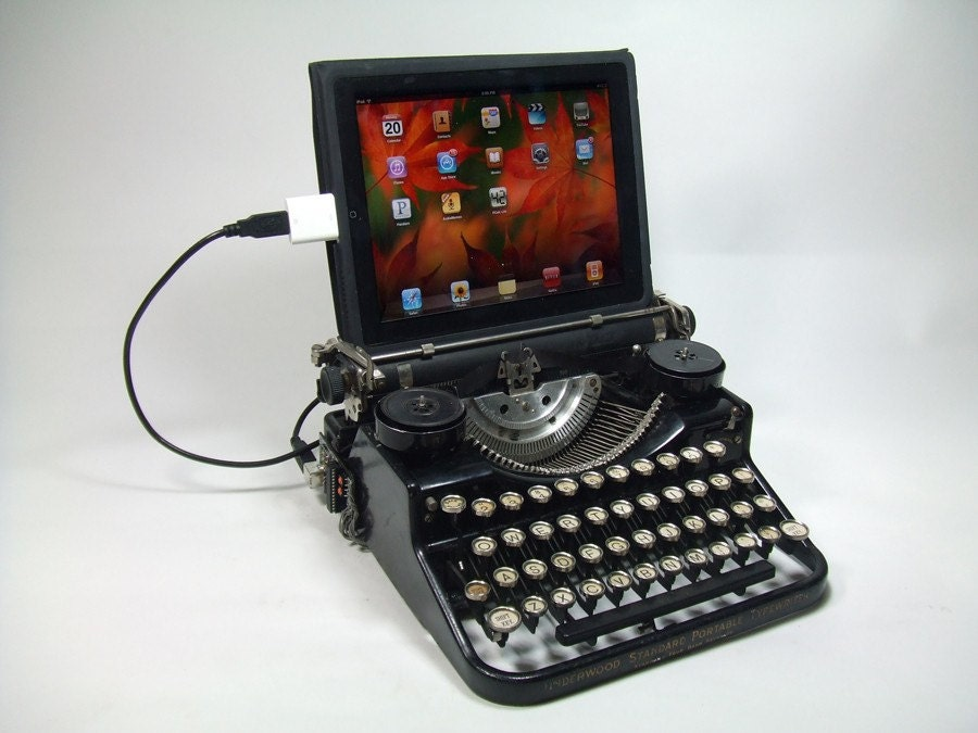 USB Typewriter Computer Keyboard Underwood Portable A | 900 x 675 jpeg 87kB