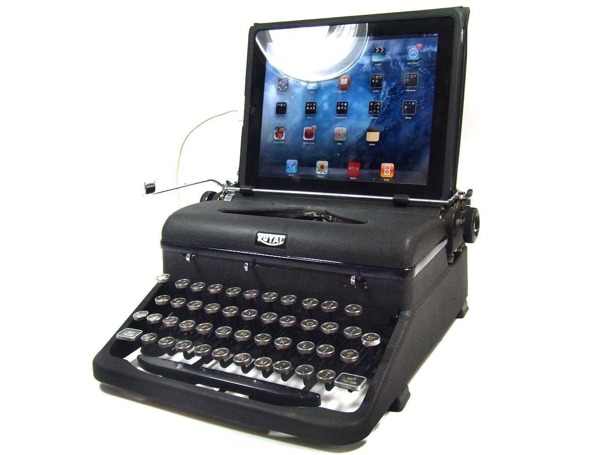USB Typewriter Computer Keyboard Royal Aristocrat w. Black  Typewriter