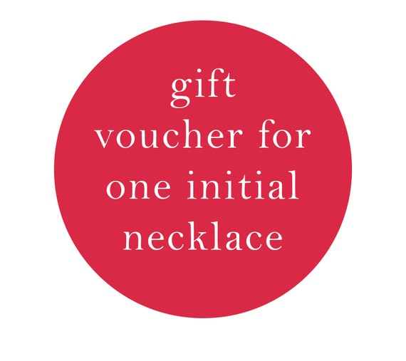 Gift Voucher for an Embroidered Initial Necklace
