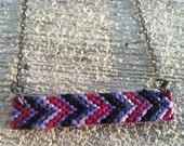 Chevron Friendship Necklace -Violet, Purple, Black, and Lavender