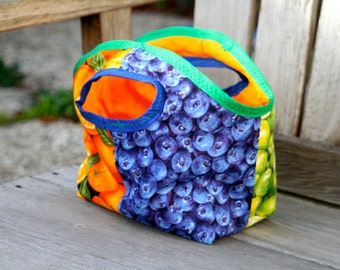 Padded Fruit Lunch Tote