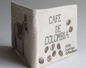 wallet hand drawn colombia coffee bi fold wallet small