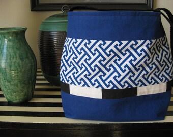 Vibrant Colbalt Blue Handmade Purse