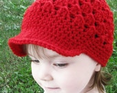 Girls Clothing Accessories, Hats, Children Clothing, Newsboy Cap for Girls - Beanie Hat with Visor, Valentine Red Hat, Red Accessories