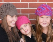THREE Newsboy Caps, Hats - SAVE 15.00 when you buy three, Children Clothing, Hats for Mom and Girls, Daughters