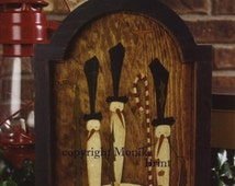 Old Fashioned Winter-Christmas-Snowmen-Primitive Snowmen-Hand Made-Original Design-Vintage Decor-Winter