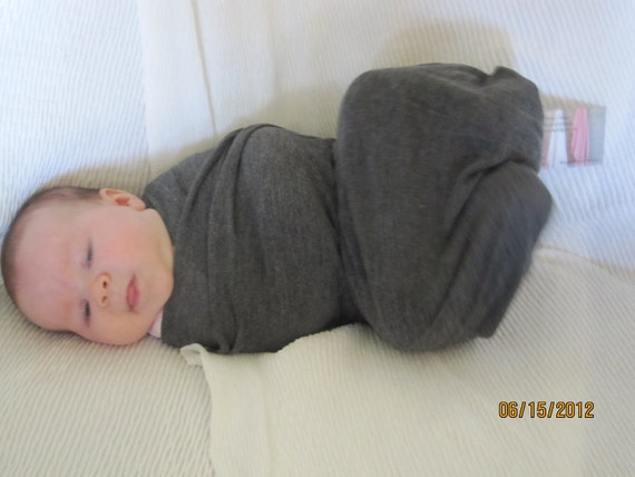 "reserved for kay Dark Gray 4 way Stretch  OOAK Oh So Soft Stretch  Blanket ""Ready to Ship"""