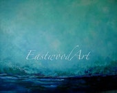 Abstract Landscape, Original Painting Blue Series, 3