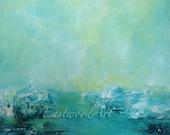 "Abstract Landscape Original Art ""Blue 4"""