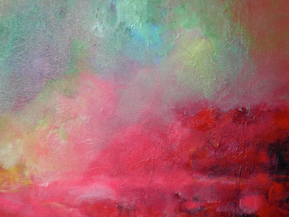 Pink Abstract Canvas Art: Unavailable Listing On Etsy