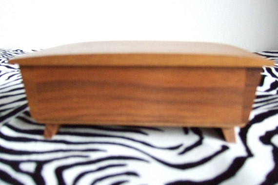 Teak Danish Modern Music Box - Swiss Made