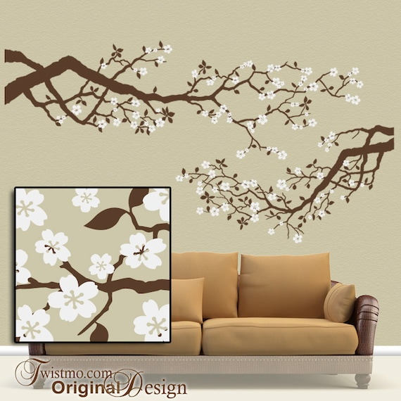 Merveilleux Best Selling Large Vinyl Wall Decal Set Cherry Blossoms Tree