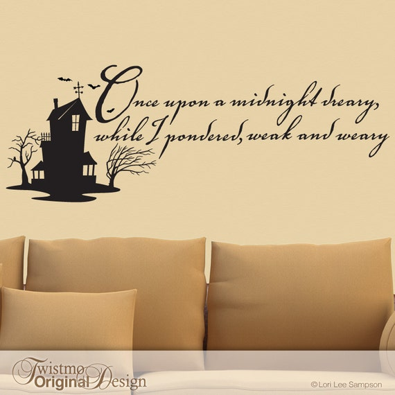 Edgar Allan Poe Quotes: Edgar Allan Poe Quote Vinyl Wall Decal The Raven Haunted