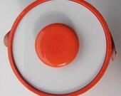 MOD orange and white ice bucket