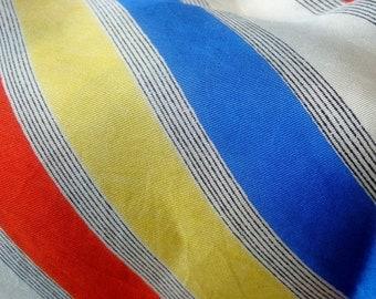 modern era Striped Silk Scarf