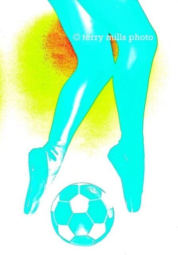 Ballet over Soccer 12x18