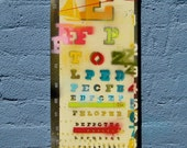 Extra Challenging Eye Chart, Stencil on Canvas