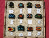 Native American Huichol Style Colorful Beaded Rings - YOUR CHOICE Custom Sizing