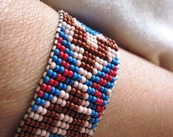 Native American Traditional Style Inspired Beaded Bracelet  YOUR CHOICE
