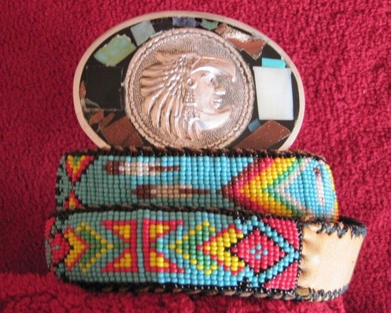 Native American Style Loom Seed Beaded Belt