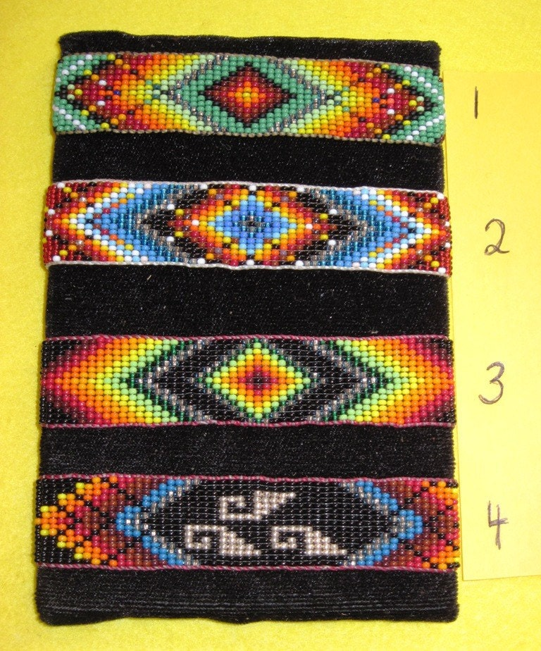 Native American Huichol Beaded Cuff Bracelet Your Choice Free