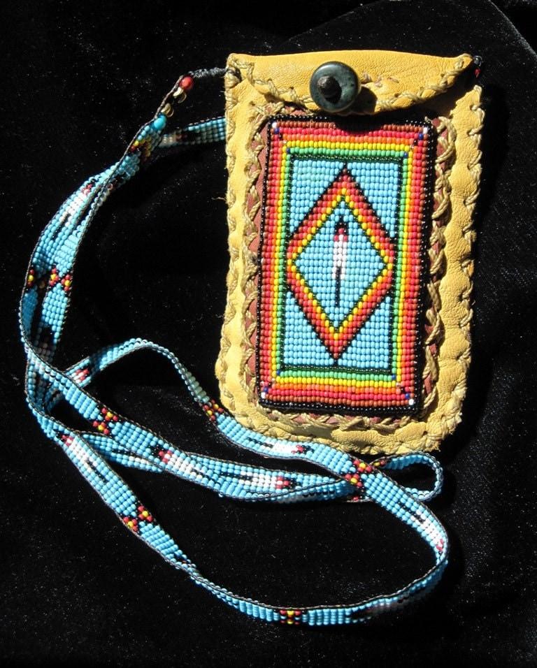 Beaded Diamond: Limited Edition Rainbow Diamond Feather Beaded Bag On Deer