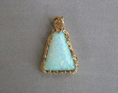 Opal Pendant in 14K Gold Setting -- Lab Created Opal -- 40% OFF!