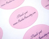 Custom Oval Stickers - white or colour - Text only - Medium - 42 STICKERS